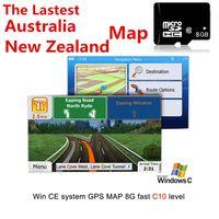 ingrosso antenna auto gps-Adatta per WCE System Car Auto GPS Navigation 8GB Micro SD Card per Australia Nuova Zelanda Mappa