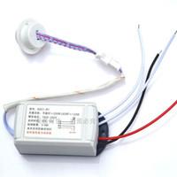 sensor de luz 12v venda por atacado-110 V 220 V 12 V 1 Way Corpo IR Sensor Switch Inteligente Automático PIR Sensor de Movimento Interruptor de Luz Construído no Módulo Infravermelho Detector de Interruptor de Detecção
