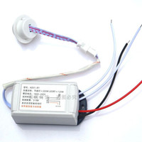 kızıl ötesi ışık dedektörleri toptan satış-110 V 220 V 12 V 1 Yollu Vücut IR Sensörü Anahtarı Akıllı Otomatik PIR Kızılötesi Modülü Dahili PIR Hareket Sensörü Işık Anahtarı ...