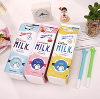 Wholesale kawaii fashion stationery for sale - Group buy Creative Cosmetic Bags Cute Animals Fruits Milk Box Pen Bag Kawaii Stationery Office School Supplies Korean Stationery