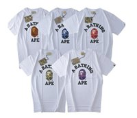 Wholesale Japanese Slimming Shirt - Japanese tide brand T - shirt coloured ape men and women's head, male and female J classic cotton short sleeved easy apes Street wind lovers