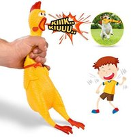 Wholesale chicken toy sound - 17cm 32cm 40cm Screaming Chicken Squeeze Sound Toy Pets Toy Product Dog Toys Shrilling kids Decompression Tool GGA670 100pcs