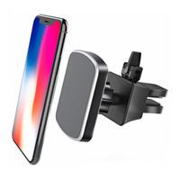 держатели телефонов с вентиляцией оптовых-Автомобильный держатель телефона Air Air Vent Магнитный автомобильный держатель для iPhone X 8/7 / 6 / 6s Plus