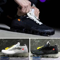 Wholesale Fashion Knit Fabrics - 2018 Vapormax black white Trainers Breathe Running Shoes For Mens Womens fashion designer R vapormaxs Knit Runner cs Sneakers Sports Shoes