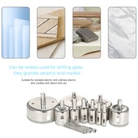 Wholesale masonry hole saw - 14PCS 3-70mm Glass Hole Saw power tools Diamond Coated Core Hole Saw Marble Drill Bit set Tile Ceramic Glass Porcelain Drilling