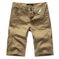 heiße mens ladung hosen großhandel-Sommer Hot Cotton Short Pants Männer beiläufige dünne feste Cargo Shorts Männer Bermuda Mens Beach Shorts