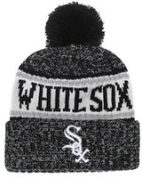 4c6c9386667 Discount White Sox Beanie Sideline Cold Weather Graphite Official Revers  Sport Knit Hat All Teams winter Warm Knitted Wool Skull Cap