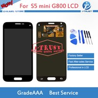 Wholesale galaxy mini lcd - AMOLED LCD For Samsung Galaxy S5 Mini G800 G800F G800H Good Repair Replacement With free repaire tools and Free DHL Shipping