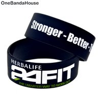 Wholesale wide jelly bracelets resale online - Hot Sell PC Inch Wide Hour Fit Stronger Better Togeter Silicone Wristband Motivational Bracelet