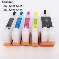 Wholesale epson xp - T2621 T2631-T2634 Refillable Cartridge With Permanent Chip For Epson XP600 XP605 XP700 XP800 XP610 XP615 XP710 XP810 XP-600 XP-700 XP-800