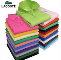 resmi gömlek giyen adam toptan satış-Erkek Düğün Gömlek kısa Kollu Erkekler Elbise Gömlek Iş Düz Renk Casual Gömlek Iş Elbisesi Resmi Ince t-Shirt Adam YN554 polo gömlek
