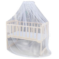 Wholesale new home bedding resale online - Baby Bedding Crib Mosquito Net Portable Size Round Toddler Baby Bed Mosquito Mesh Hung Dome Curtain Net Summer NEW SALE x42M