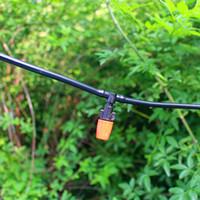 ingrosso spruzzi da giardino-25m Automatic Micro Drip Irrigation System Irrigazione da giardino Spray Kit per annaffiamento con gocciolatore regolabile BW06