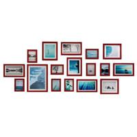 wandkunst gemaltes holz großhandel-17 Pine Wood Stück Fotorahmen Wall Gallery Kit beinhaltet: Frames, Kunst Malerei Kern, hängende Wand Vorlage, Haus und Wanddekorationen