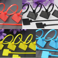 Wholesale wire zip ties - Colour Tag Zip Tie OW Plastic Tag Blue White Yellow Shoe Buckle For Off Shoes Internal Wiring Of Household Appliances 0 08sd dd