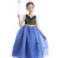 films de noël enfants achat en gros de-Mode Enfants Filles Cosplay Costume Robe Film Princesse Robe Longue Pour La Fête De Mariage Anniversaire De Noël HH7-1132