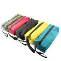 leinwand nylon werkzeugtaschen großhandel-Storage Tools Bag Utility Tasche Oxford Canvas Wasserdichte tragbare Handwerkzeug für Elektriker