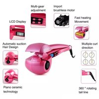 Wholesale Wholesale Pink Tools - [Hair Care & Styling Tools] LCD Display Automatic Curling Iron Digital Temperature Controller Compact Size Multifunctional curler
