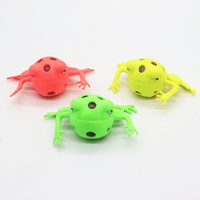 Wholesale cute frogs for sale - Group buy Anti Stress Squeeze Toy Cute Frog Mesh Squishy Ball For Child Kids Birthday Party Gift Toys Three Colors xt BB