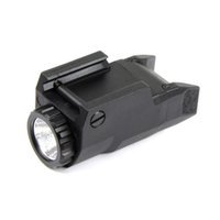 ledli flaş aydınlatması toptan satış-Taktik Kompakt APL Işık Sabit / Anlık / Strobe Feneri APL-C LED Beyaz Işık Siyah