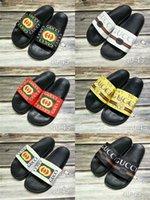 Wholesale size eur 42 - Top Quality Luxury Brand Designer Men women Summer Sandals Beach Non-slip Fashion Slippers Indoor Comfortable Casual Shoes Size EUR 40-45