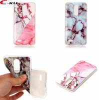 Wholesale Paint For Stone - Marble Stone Painted Flower Soft TPU Case For LG K8 2017 G8 K4 K10 V30 MOTO E4 EU Sony Xperia L2 XA2 XZ2 Skin Rock Grain Cover Luxury 100pcs
