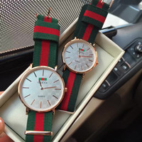 Wholesale ribbon luxury - luxury fashion nylon style 40 36mm rose gold mens luxury brand women men watches CC watches montre femme relojes