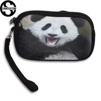 panda münze geldbörse niedlich großhandel-SAMCUSTOM Custom niedlichen Panda 3D Print neue Frauen kleine Geldbörse männlich und weiblich kleine Brieftasche Mode lässig Mädchen Geldbörse