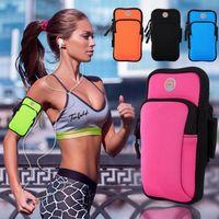 koşu için telefon çantaları toptan satış-Spor Koşu Koşu Spor Cüzdan Kılıfı Su Geçirmez Armband Vaka Cep Telefonu Için Açık Kol Çantası OOA4254