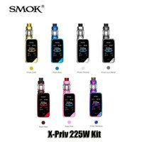 Wholesale Smok Kits - 100% Original SMOK X-Priv 225W Kit VW TC 225W X Priv Box Mod 8ml TFV12 PRINCE Tank Genuine