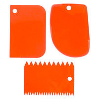 Wholesale plastic spreader for sale - Group buy 3pcs set Pastry Cutter Butter Scraper Dough Cutter Bench Spreader Knife Kitchen Tools Free Shopping