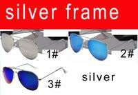 ingrosso telaio di colore degli occhiali degli uomini-SUMMER vendita calda uomo all'aperto guida occhiali da sole Sport Occhiali da sole Black Frame beach Occhiali da sole Dazzle color silver frame SPEDIZIONE GRATUITA