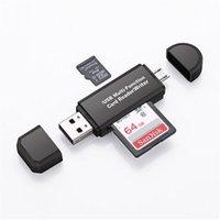 mmc продажа оптовых-3 в 1 USB OTG кард-ридер флэш-накопитель высокоскоростной USB2.0 универсальный OTG TF / SD-карта для телефона Android телефонные разъемы