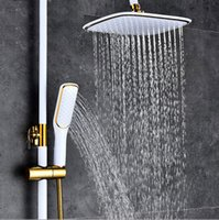 5 Styles square gold and black White color waterfall shower head high qualtiy top shower overhead hand spray
