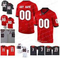 ingrosso jersey personalizzato-Personalizzato UGA Georgia Bulldogs College Football 11 Jake Fromm 27 Nick Chubb 10 Jacob Eason Maglie personalizzate Qualsiasi nome numero Rose Bowl Jerse