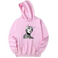 birleşik kıyafetler toptan satış-Lil Peep Kapüşonlu Hoodies Erkek Tişörtü Birleşik Devletleri Popüler Rap Şarkıcı Tişörtü Erkekler Büyük Hip Hop Şarkıcı Giysileri
