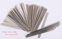 0.15mm x 3mm x 100mm 100pcs Pure Nickel Plate Strap Strip Sheets 99.96% for Battery Spot Welding Machine Welder Equipment Tools