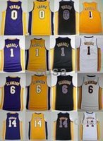 Wholesale Young 14 - 2017 Basketball Jerseys 14 Brandon Ingram Shirt 1 D'Angelo Russell 0 Nick Young 6 Clarkson 30 Julius Randle Cheap Stitched Basketball J