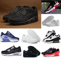 Wholesale Patchwork Cushions - Classic 90 Men and women Running Shoes Sports Trainer Air Cushion Breathable Sports Shoes 36-45 shoebox