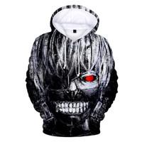 tokyo ghoul sweatshirt groihandel-Tokyo Ghoul 3D gedruckte Hoodie Harajuku Hoody Sweatshirt plus Größe unisex Hoodies und Sweatshirts Freizeitkleidung Anime Pullover