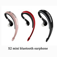 Wholesale x2 phone wholesale - X2 mini bluetooth wireless earphone ear-hook inear bluetooth 4.1 CSR stereo hifi handfree headset headphone wich microphone for smart phone