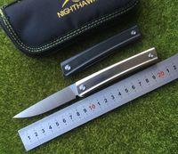 medford bıçakları toptan satış-Medford Praetorian 2 rulman Flipper katlama bıçak D2 Titanyum kolu kamp avcılık meyve soyma mutfak bıçağı EDC araçları