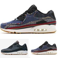 Wholesale Marks Shoes - Dark Obsidian Men Air 90 Premium Running shoes Afro Punk Marks Women Trainer Sneaker size 36-46