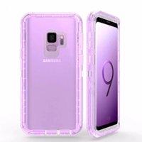 ingrosso caso del difensore s6-Custodia Defender per Samsung S8 S9 Plus Custodia protettiva per S7 S6 edge Cover posteriore antiurto trasparente resistente senza custodia per telefono