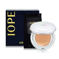 luftkissen bb creme großhandel-Korea Marke IOPE Air Cushion + Ersetzen Kissen XP BB Foundation Cream 15g Feuchtigkeitsspendende Concealer N21 W21 N23