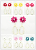 Wholesale pearl toe ring - New Arrival kids Flower Sandals Simulated Pearl Anklets baby Barefoot Sandals Baby Girls Foot Band Toe Rings Foot ornament KFA26