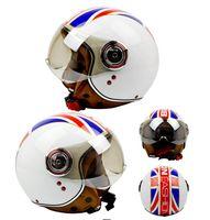 Wholesale helmet motorcycle beon - Classic flag pattern BEON B-110B motocross half face Helmet for men women, motorcycle MOTO electric bicycle safety headpiece