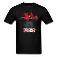 espejo de anime al por mayor-Spiegel Acorazado Camiseta Japón Estilo Camiseta Hombres Ropa de Algodón Tops de Algodón Anime Tshirt Espectadores de Moda Espejo Camisetas