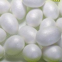 yumurta ürünleri toptan satış-Paskalya Ccinee 120 adet 7 cm / 2. .75 inç Köpük Yumurta Şekli Topu Kullanılan Beyaz Strafor Yapma Ürün için Paskalya / Düğün Dekoratif Aksesuarları