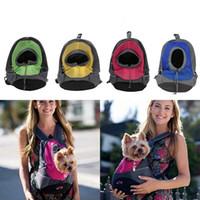 Wholesale backpack dog carriers for sale - Group buy Pet Dog Carrier Pet Backpack Bag Portable Travel Bag Front Bag Mesh Backpack Head Out Double Shoulder Bags OOA4705